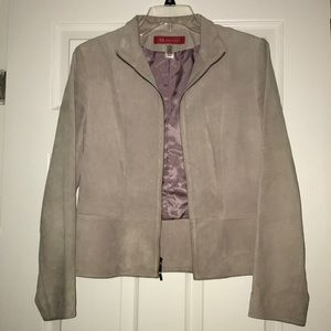 "Anne Klein Leather ""Suede Feel"" Jacket/Blazer"